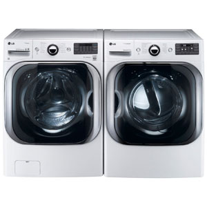 LG White 5.1 Cu Ft Front Load Steam Washer