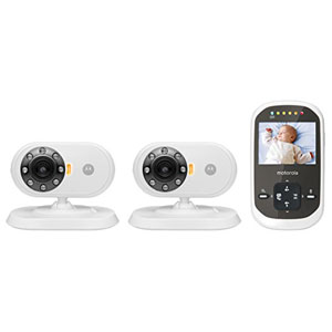 Motorola MBP25-2 Wireless Video Baby Monitor LCD Color Screen and Two Cameras