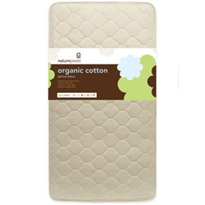 Naturepedic Crib Mattress Quilted Organic Cotton DELUXE 252 Coil